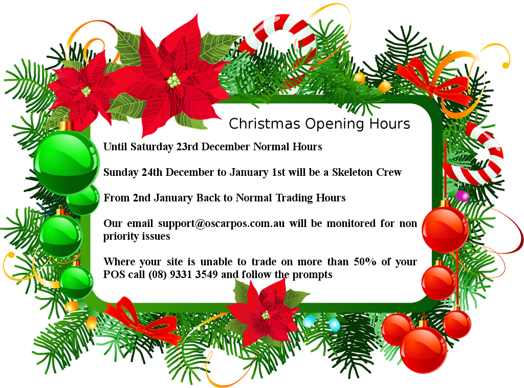 Christmas 2017 Trading Hours