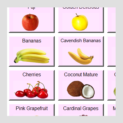OscarPOS Fruit N Vege - Big Clear Graphical Images