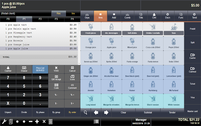 Tabby Tablet and iPAD POS